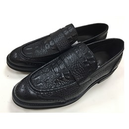 Professional Embossed Leather Slip-On Men's Loafers