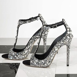 Rhinestone Sexy Stiletto Heel Sandals