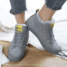 Lace-Up Solid Color Casual Women's Shoes