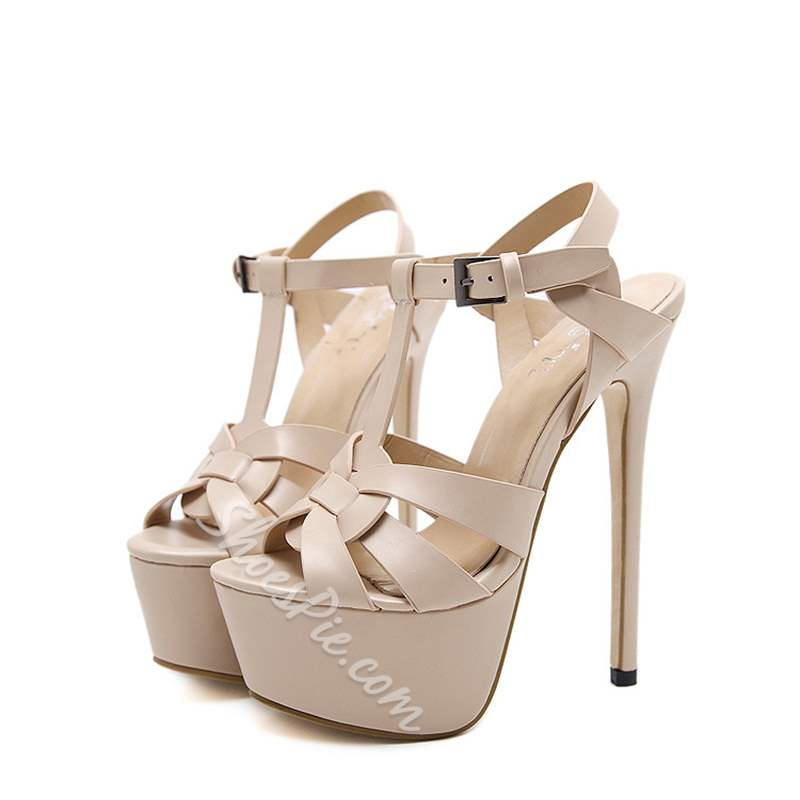 Sexy High Stiletto Heel Platform Sandals