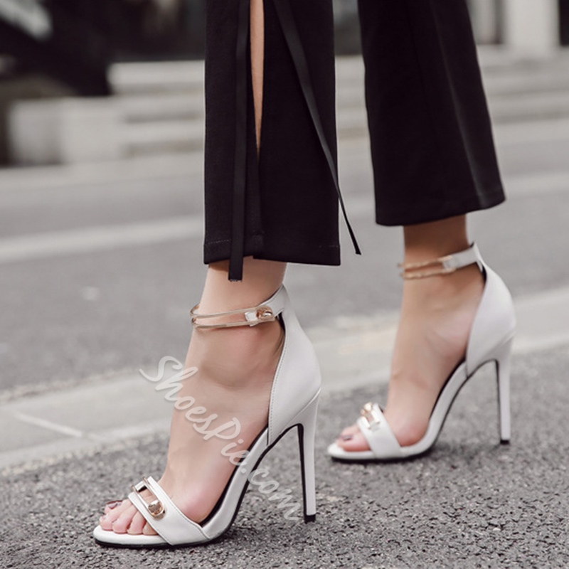 Sexy Line-Style Buckle Dress Sandals