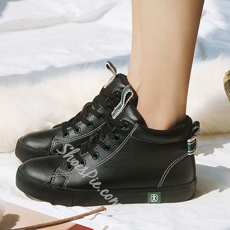 Lace-Up Bow Casual Women's Shoes