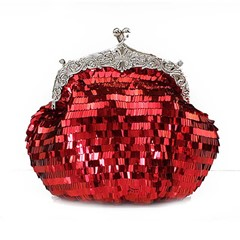 Shoespie Shining Sequins Solid Color Clutch