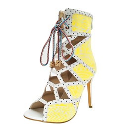 Stiletto Heel Cross Strap Open Toe Ankle Boots