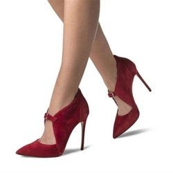 Red Buckle Sexy Stiletto Heels