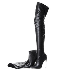 Black Sexy Stiletto Heel Over Knee Boots