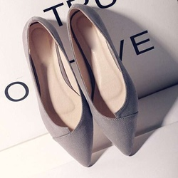 Solid Color Slip-On Women's Pumps