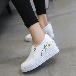 Floral Solid Color Casual Women's Shoes