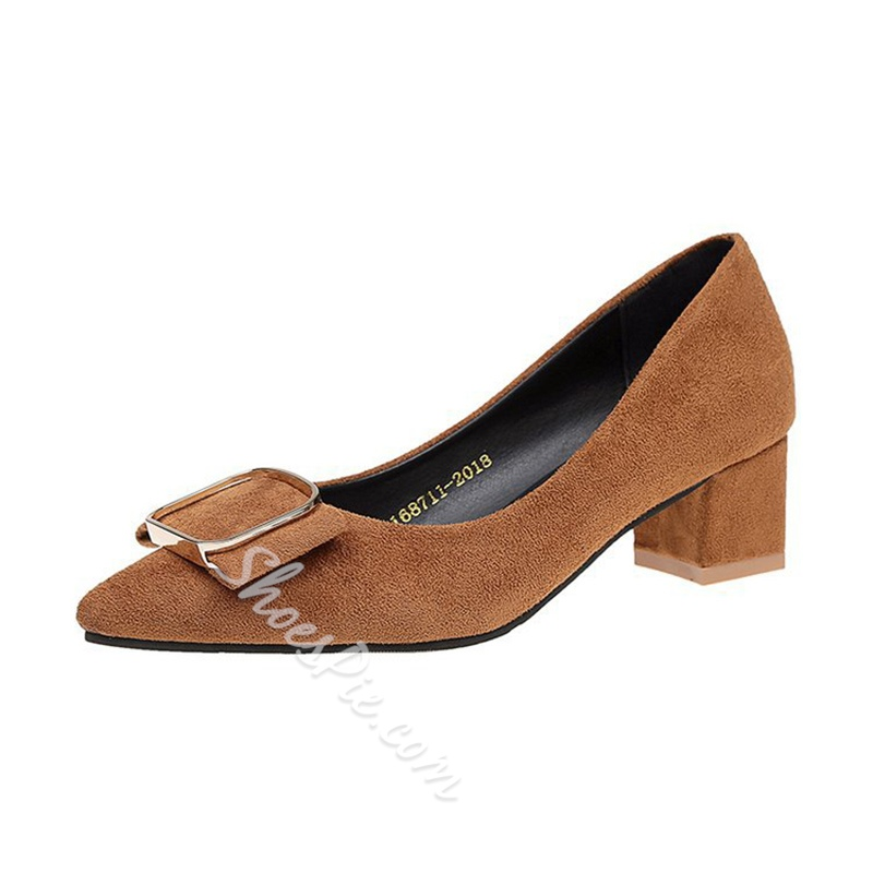 Solid Color Slip-On Casual Women's Pumps