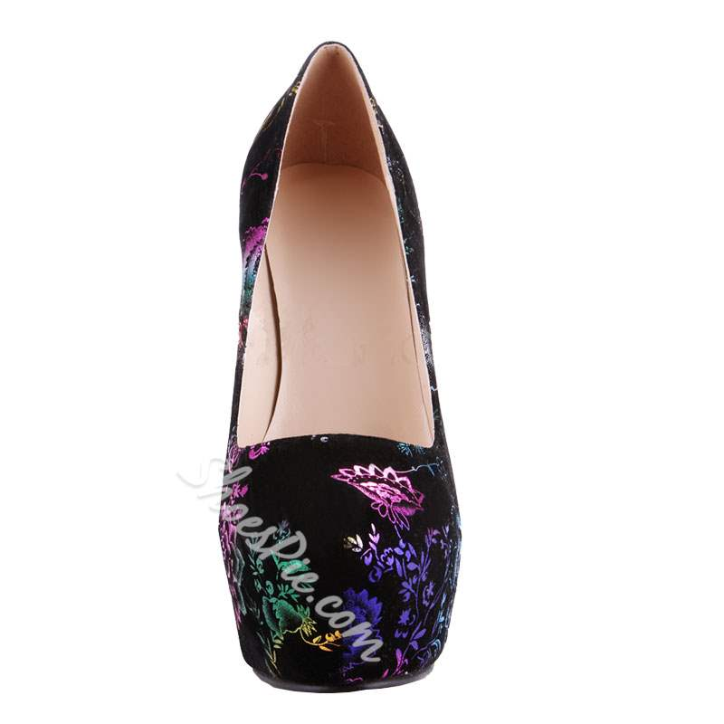 Floral Sexy Platform High Stiletto Heels