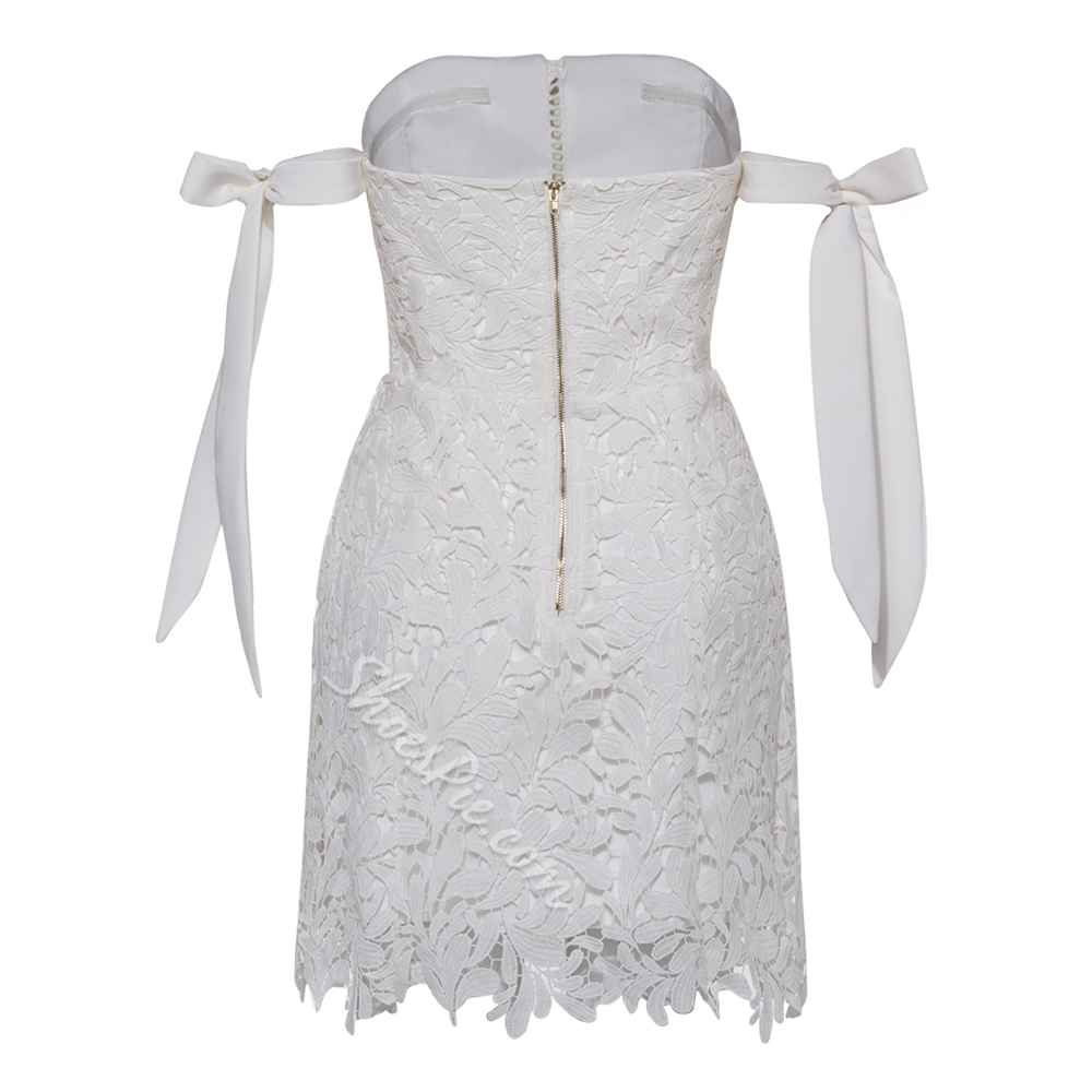Hollow Backless Lace Sleeveless Dresses