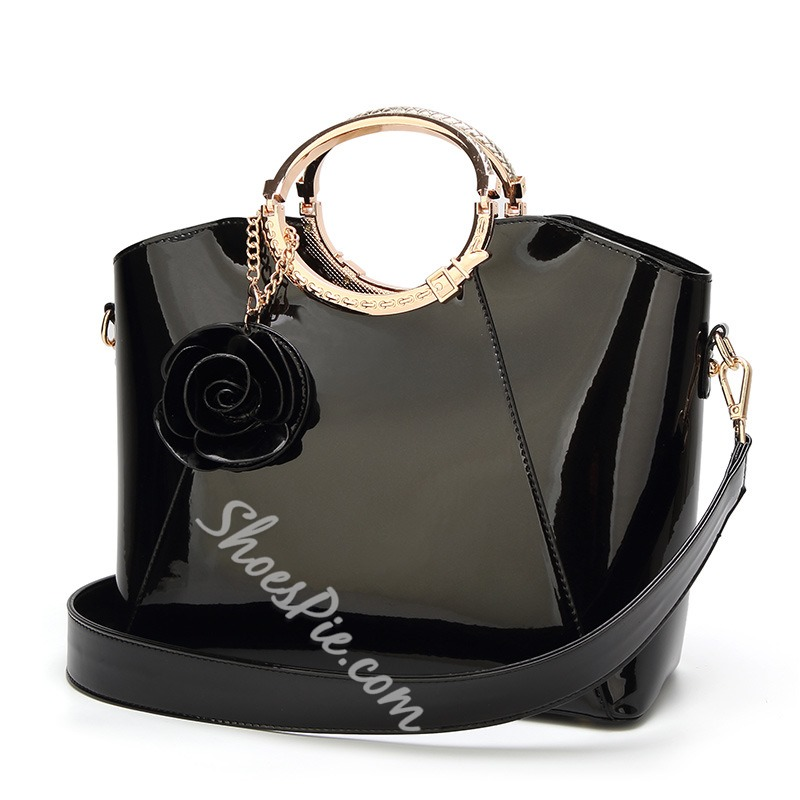 Shoespie Occident Style Glossy PU Women Tote