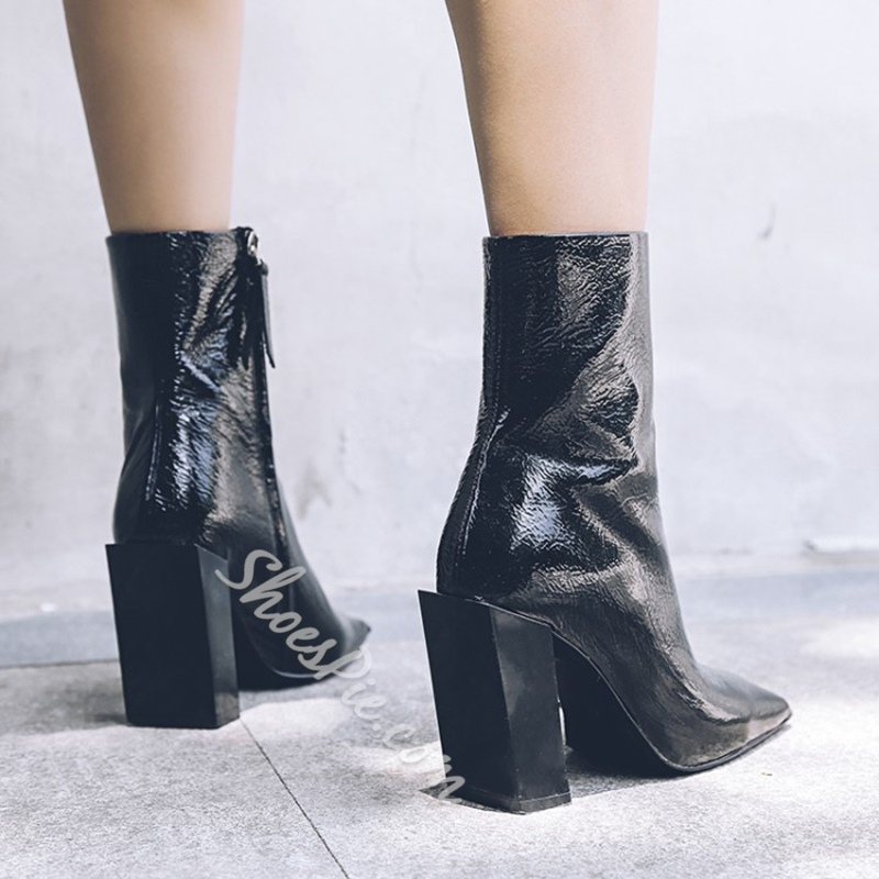 Square Toe Chunky Heel Fashion Boots