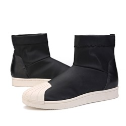 Round Toe Sneakers Slip-On Fashion Men's Boots