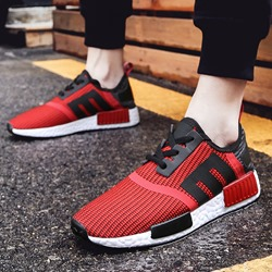 Casual Mesh Sneakers Lace-Up Athletic Shoes