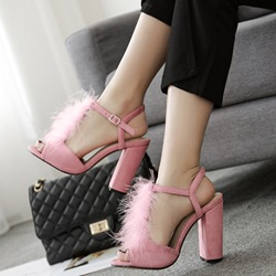 Short Floss Strappy Buckle Sandals