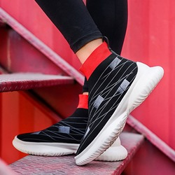 Casual Color Block Slip-On Sock Athletic Shoes