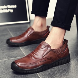 Round Toe Casual Slip-On Fashion Men's Loafers
