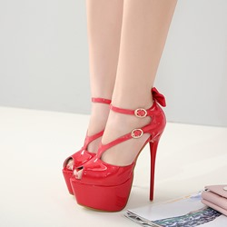 Solid Color Platform High Stiletto Heels