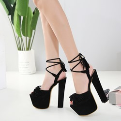 Black Sexy Platform Stiletto Heels