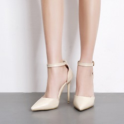 Solid Color Line-Style Buckle Women's Shoes
