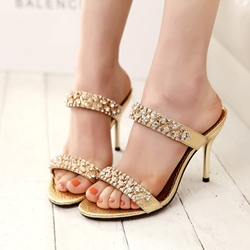 Rhinestone Stiletto Heel Women's Sandals