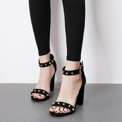Black Rivet Open Toe Women's Sandals