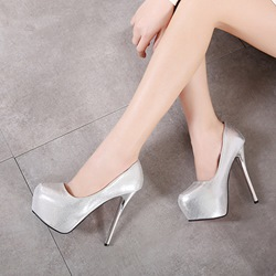 Solid Color Platform Extreme High Stiletto Heels