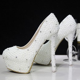 Elegant New Style Pearl Bride Shoes