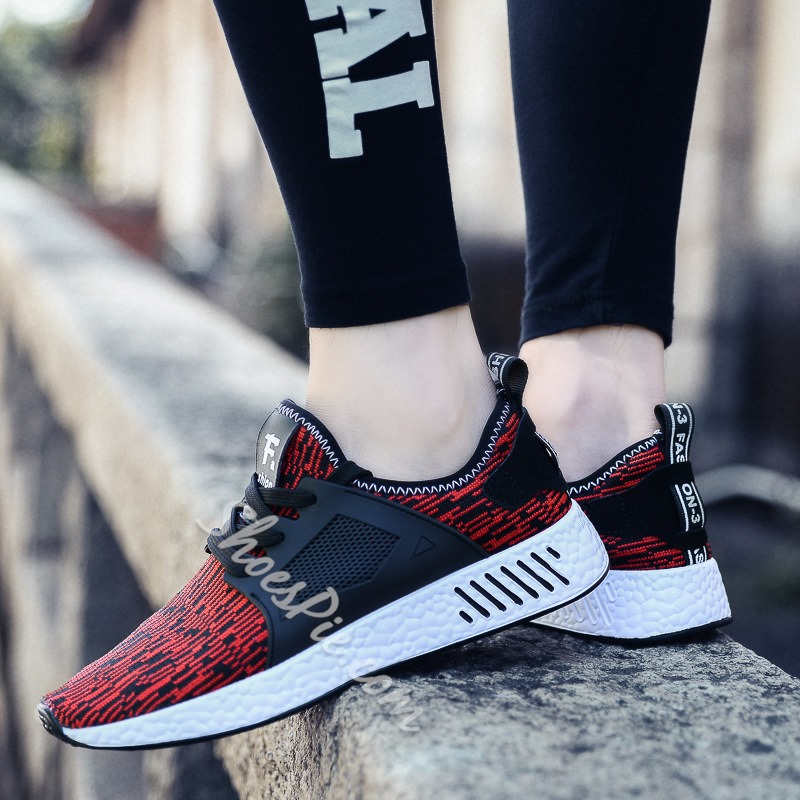Casual Patchwork Lace-Up Men's Sneakers