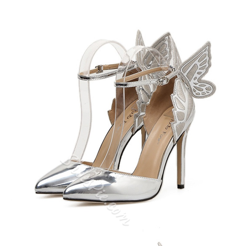 Line-Style Buckle Patent Leather Stiletto Heels