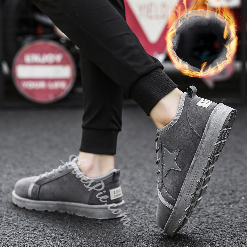 Casual Round Toe Star Lace-Up Sneakers