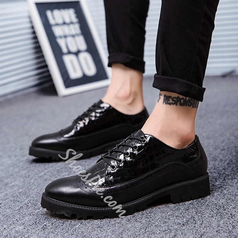 Casual Lace-Up Low-Cut Upper Oxfords Men's Sneakers