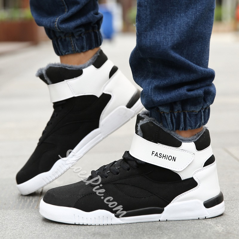 Casual Color Block Lace-Up Men's Sneakers