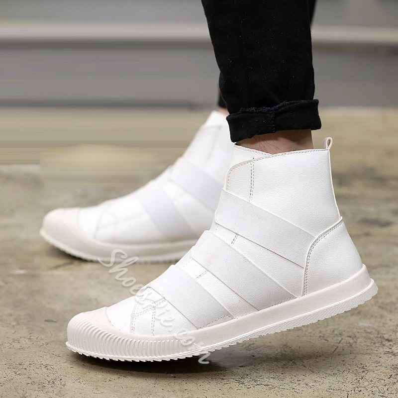 Casual Round Toe Boots Elastic Band Men's Sneakers