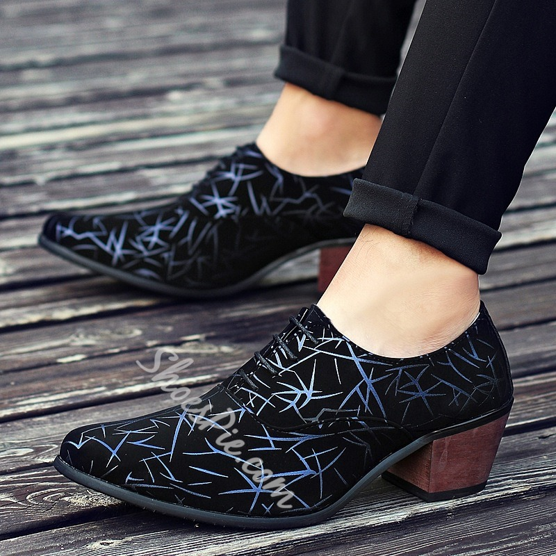 Lace-Up Print Men's Loafers