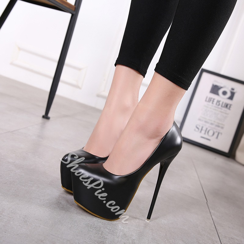 Slip-On Platform Extreme High Stiletto Heels