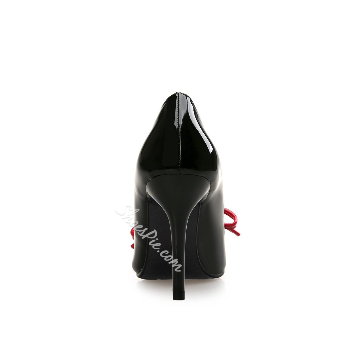 Patent Leather Bow Stiletto Heel Pumps