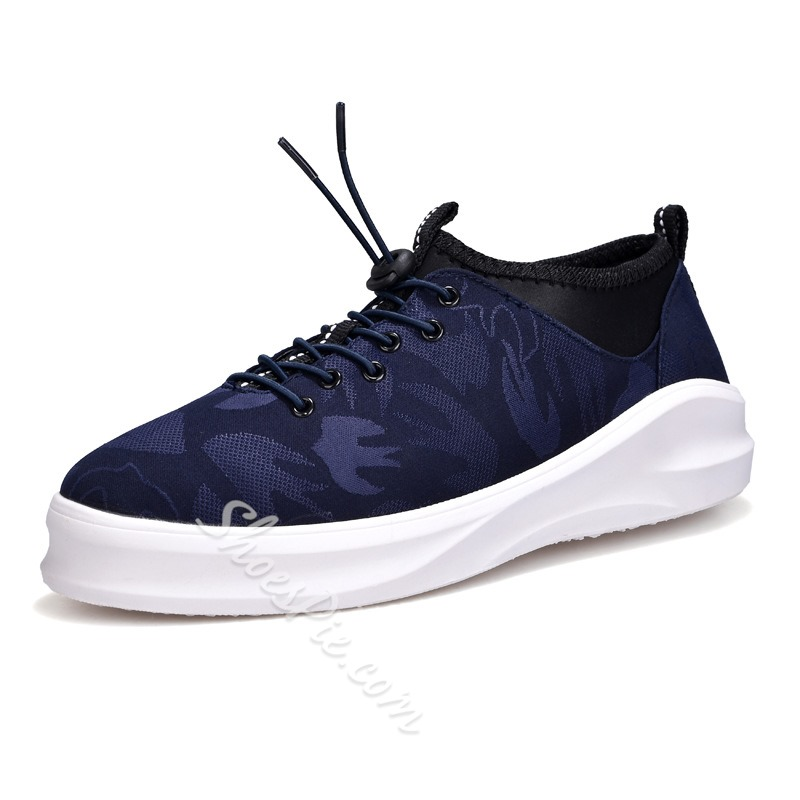 Elastic Band Casual Round Toe Men's Sneakers