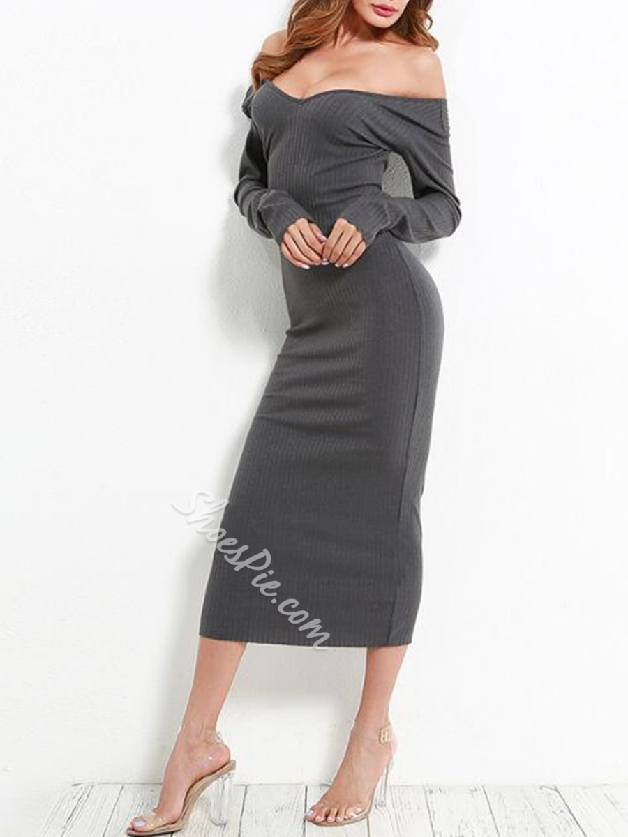 Sexy Backless Long Sleeve Bodycon Dresses