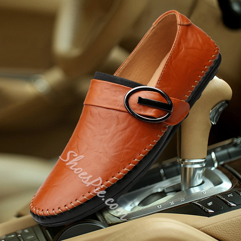 Buckle Slip-On Men's Loafers