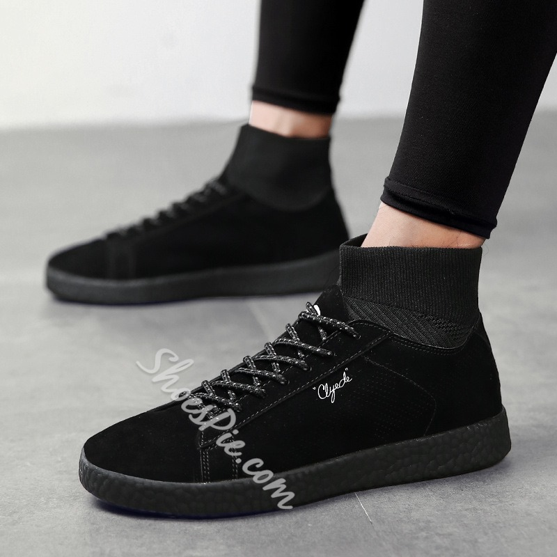 Lace-Up High-Cut Upper Men's Sneakers