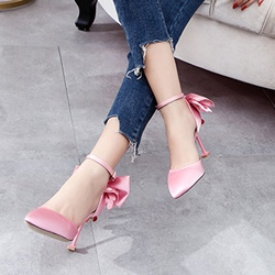 Rhinestone Bownot Stiletto Heel Sandals