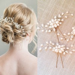 Geometric Hair Stick Pearl Inlaid Party Hair Accessories