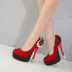 Platform Buckle High Stiletto Heels