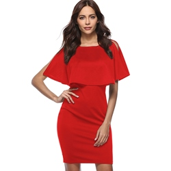 Round Neck Short Sleeve Bodycon Dresses
