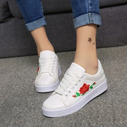 Floral Lace-Up Women's Casual Shoes