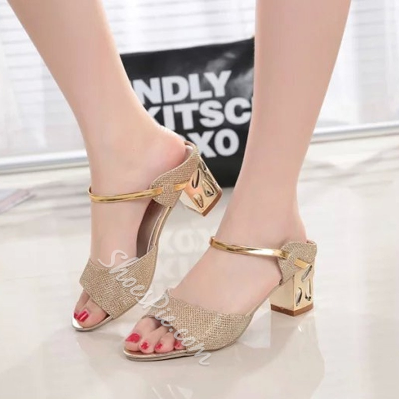 Slip-On Chunky Heel Women's Sandals