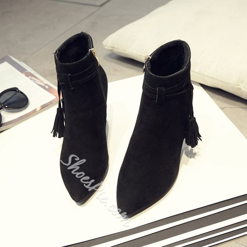 Tassel Stiletto Heel Fashion Boots