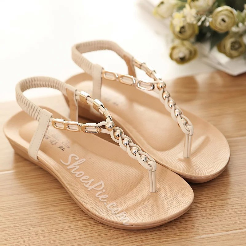 Thong Casual Strappy Flat Sandals
